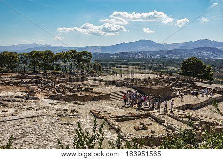 Greece Crete - 10/06/2015: Ruins of the Festa Palace