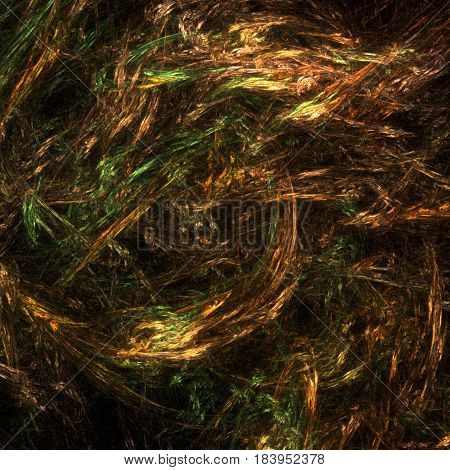 Fantasy autumn colors abstract background horizontal over black