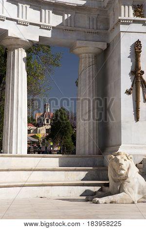 Benito Juárez Hemicycle monument, Mexico City, designed by Porfirio Diaz