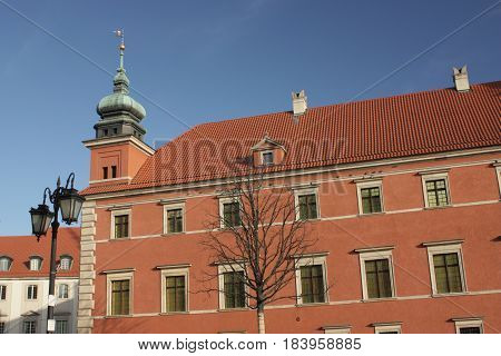 Royal Castle in Warsaw (Poland). Baroque-classicist royal castle located in Warsaw is a tourist attraction of the Polish capital. He currently performs museum and representation functions.