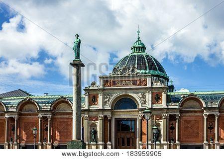 Copenhagen, Denmark - April 4, 2017: Art museum Carlsberg Glyptotek, Denmark