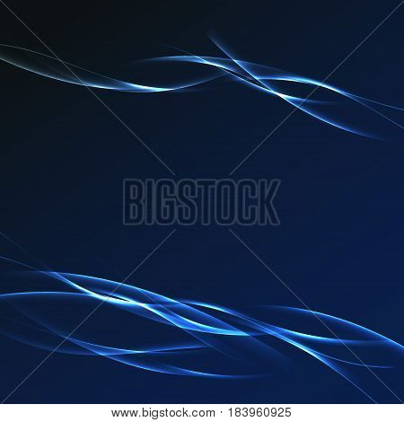 Dark blue futuristic streak wave layout. Vector illustration