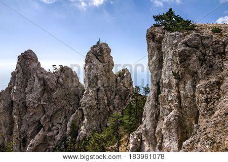 Mountain landscape Ai-Petri, Crimea, Russia sea view