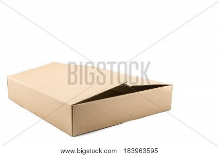 Cardboard Box On A White Background.