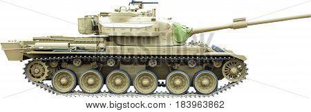 Centurion Tank from Vietnam War, isolated on white