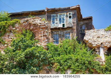The Old Wooden House  In The Historic Part Of Istanbul