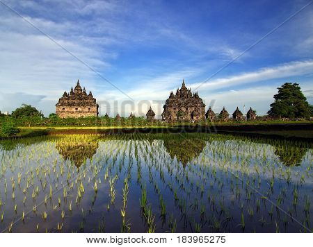 Plaosan Temple located in Central Java, Indonesia