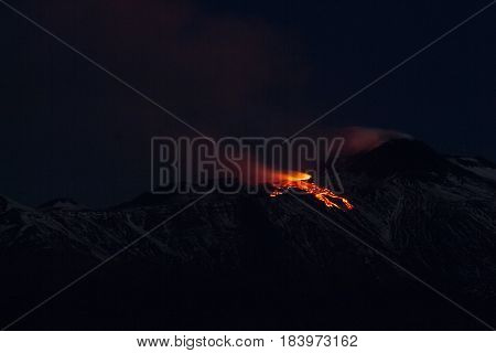 Eruption Volcano Etna