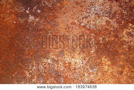 Rusty steel gates in prison. Blurred background