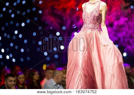 Fashion Show Runway Beautiful Pink Dress