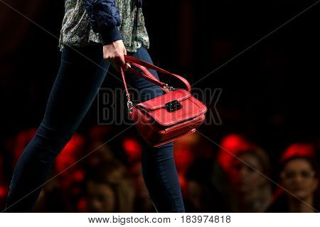 Fashion Show Runway Red Purse