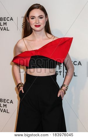 NEW YORK, NY - APRIL 26: Karen Gillan attends 'The Circle' premiere during the 2017 Tribeca Film Festival at BMCC Tribeca PAC on April 26, 2017 in New York City.