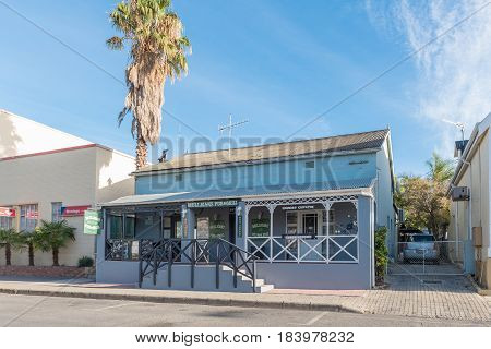 MONTAGU SOUTH AFRICA - MARCH 26 2017: Mulligans Pub and Grill a restaurant in an historic building in Montagu a town in the Western Cape Province