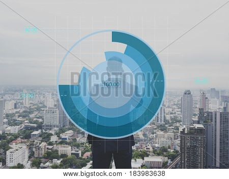Businessman Connection Digital Device Working