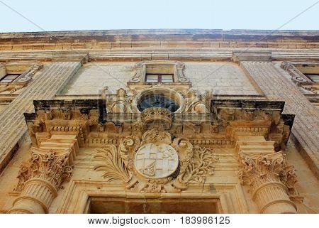 Vilhena Palace in Mdina Malta Museum of Natural History