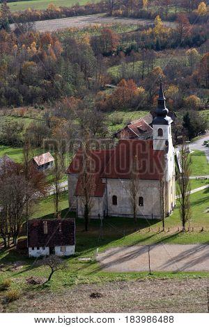 SISINEC, CROATIA - OCTOBER 10: Parish Church of Saint Martha in Sisinec, Croatia on October 10, 2007.