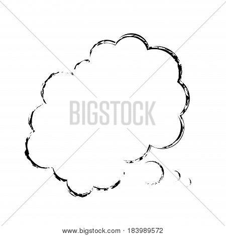 bubble comic speech chat cloud sketch vector illustration design
