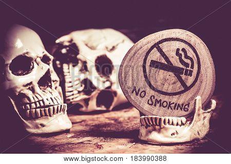 No smoking World No Tobacco Day, sign and symbol