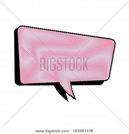drawing comic speech bubble talking communication vector illustration design