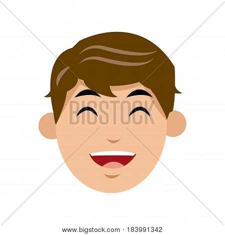 character man face laughing image vector illustration
