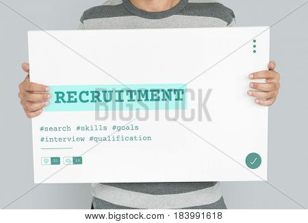 Job Career Hiring Recruitment Qualification Graphic