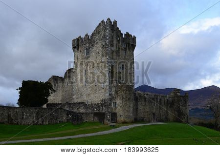 Ireland's Ross Castle located in Killarney National Park.