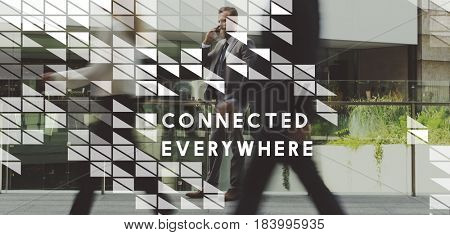 Digital Innovation Technology Connected Everywhere Graphic