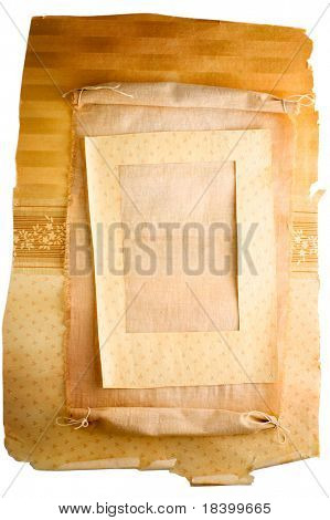 vintage grunge rolled parchment isolated