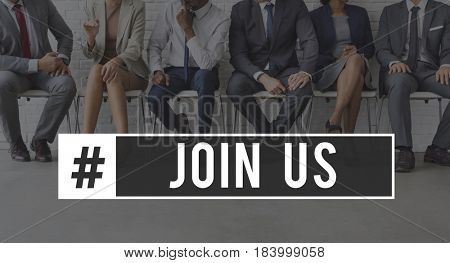 Join us Company Cooperation Membership Word