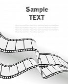 vector movie/photo film - isolated illustration on white background poster