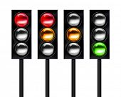 Traffic light sequence poster