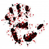 Bloody hand print poster