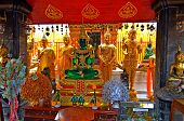 The Jade Buddha sits in the Temple that a man has erected, he shows other people who come to the temple and must understand about his sin. A pilgrim or fan or a simple person should know about the existence of Hell and Paradise. The worship and joy of con poster