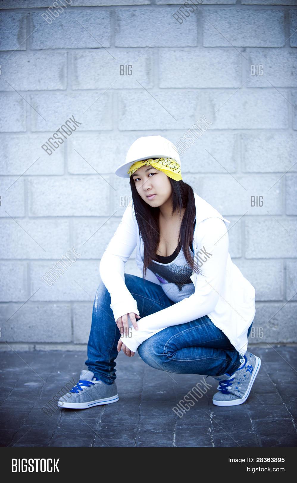 Beautiful Asian Girl Hip Hop Style Image  Photo  Bigstock-2712