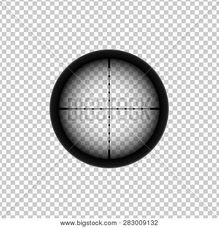 Sniper Automatic Rifle Crosshairs. Gun Viewfinder Target Icon.