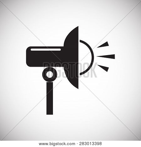 Studio Flash Strobe Icon On White Background For Graphic And Web Design, Modern Simple Vector Sign.