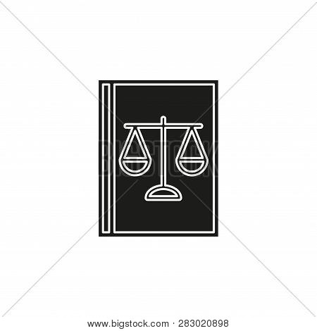 Law Book Icon - Judge Icon - Legal Sign - Judgment Illustration. Flat Pictogram - Simple Icon