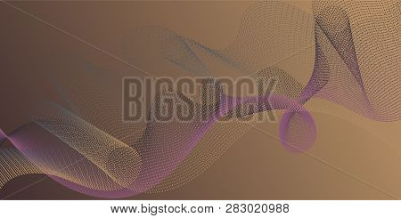 Background Curved Lines Intersection Shapes. Technological Optical Fiber Concept Vector. Fluid Bent