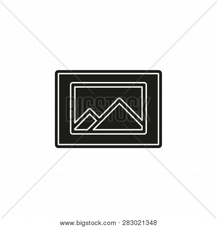 Photo Gallery Icon - Photo Gallery Element - Picture Frame Symbol. Flat Pictogram - Simple Icon