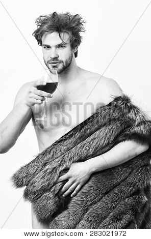 Fashion And Pathos. Rich Athlete Enjoy His Life. Richness And Luxury Concept. Sexy Sleepy Rich Macho