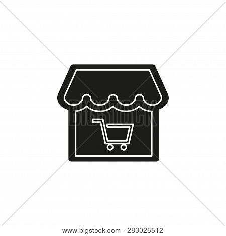 Online Store Icon. Logo Element Illustration. Online Store Symbol Design From Ecommerce Collection.