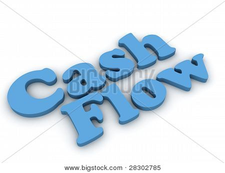 Cash flow 3d render