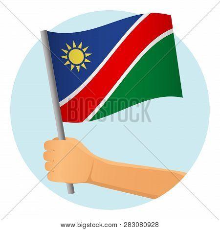Namibia Flag Hand  Vector & Photo (Free Trial)   Bigstock