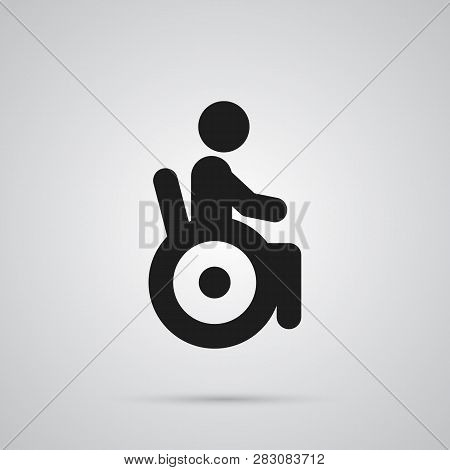 Isolated Disabled Icon Symbol On Clean Background. Vector Universal Access Element In Trendy Style.