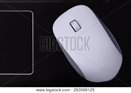 Computer Mouse With Scroll Wheel And Touchpad. Pc Mouse For Laptop.