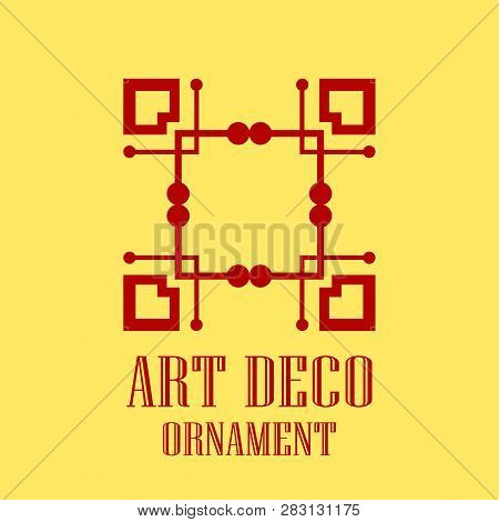 Geometric Ornamental Retro Vintage Art Deco Logo For Design And Decoration. Vintage Retro Ornamental
