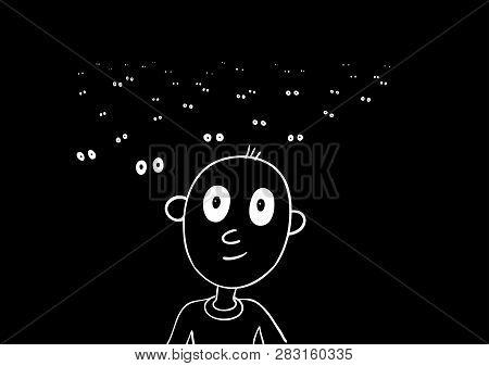 Auditorium In The Dark - Spectators, Theater, Cinema, Concert