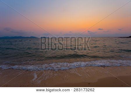 Beautiful Sunset Baltic Sea. Painting Sea Sunset. The Sea At Sunset. Amazing Sea Sunset. Sunset Sea