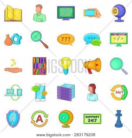 Radioman Icons Set. Cartoon Set Of 25 Radioman Icons For Web Isolated On White Background