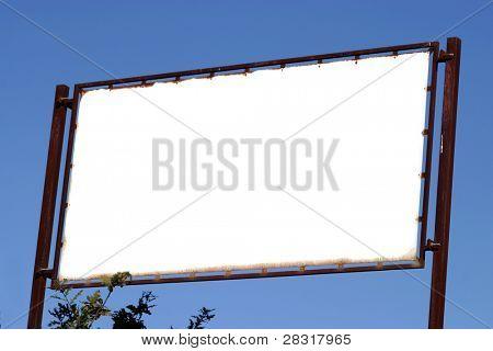 Brand new billboard in blue sky